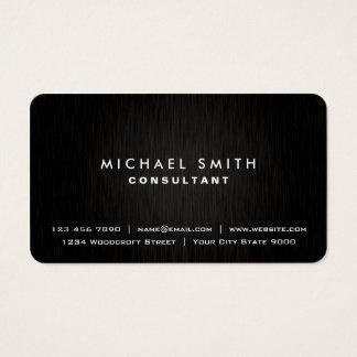 Regard moderne noir simple professionnel élégant cartes de visite