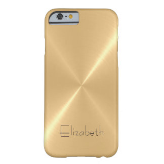 Regard pâle métallique en métal d'acier inoxydable coque iPhone 6 barely there