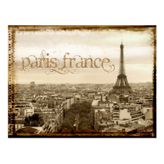 regard vintage de Paris France Cartes Postales