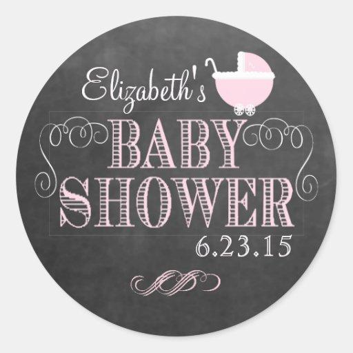 Regard vintage de tableau - baby shower autocollants ronds