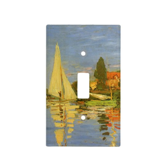 Regatta at Argenteuil by Claude Monet Light Switch Cover