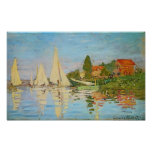 Regatta at Argenteuil by Claude Monet Posters