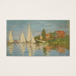 Regatta at Argenteuil - Claude Monet Business Card
