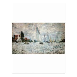 Regatta at Argenteuil, Claude Monet Postcard
