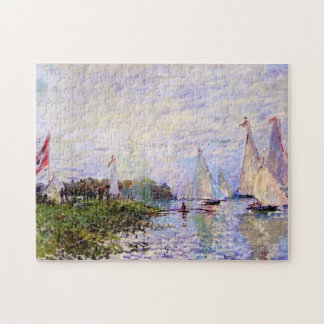 Regatta at Argenteuil Monet Fine Art Jigsaw Puzzle