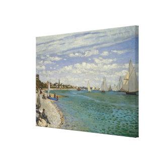 Regatta at Sainte-Adresse Canvas Print