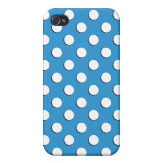 Regatta Blue Polka Dot Iphone 4 Case