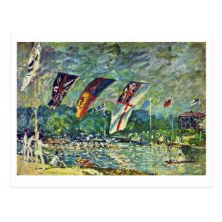 Regatta In Molesey,  By Sisley Alfred Postcard