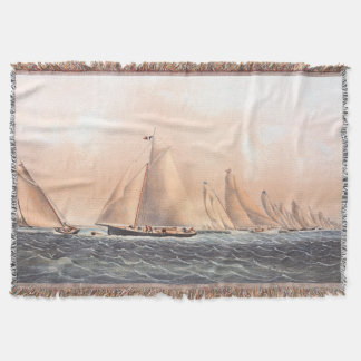 Regatta Sailing Ny Yacht Club Boats Throw Blanket