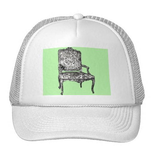 Regency chair in lime green trucker hats