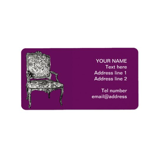 Regency chair in purple