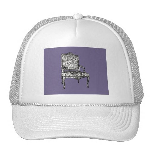 Regency chairs in lilac grey hats