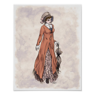 Regency Fashion - Lady #2 - 11x14 Art Print