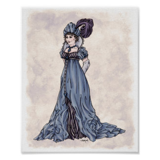 Regency Fashion - Lady #3 - 8x10 Art Print