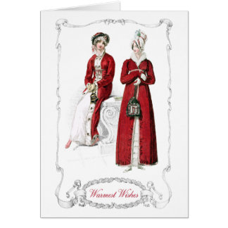 Regency Fashion Plate Christmas Holiday Card
