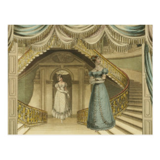 Regency Ladies on the stairs Postcard