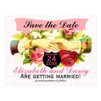 Regency Romance Save the Date Cards Postcard