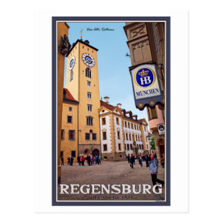 Regensburg - Altes Rathaus Postcard