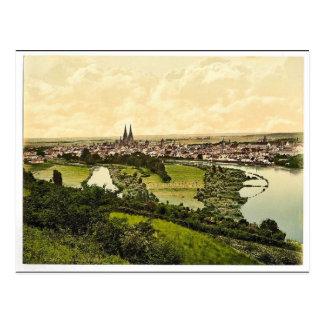 Regensburg, Bavaria, Germany classic Photochrom Postcard
