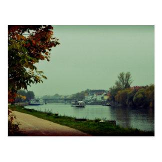 Regensburg Donau river, Germany Postcard