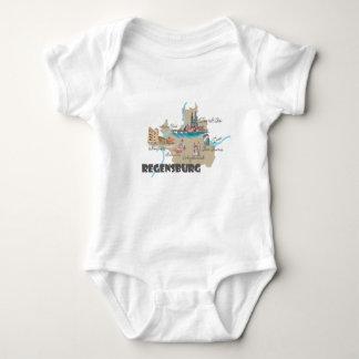 Regensburg Germany map Baby Bodysuit