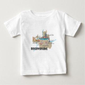 Regensburg Germany map Baby T-Shirt
