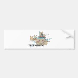 Regensburg Germany map Bumper Sticker
