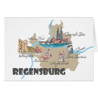 Regensburg Germany map Card