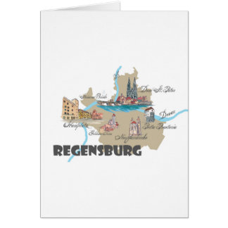 Regensburg Germany map Card