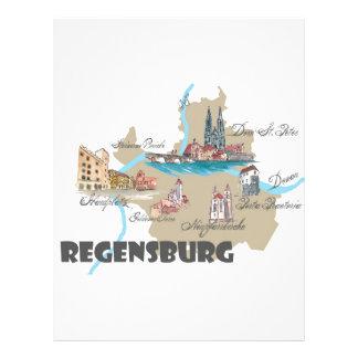 Regensburg Germany map Letterhead
