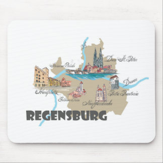 Regensburg Germany map Mouse Pad