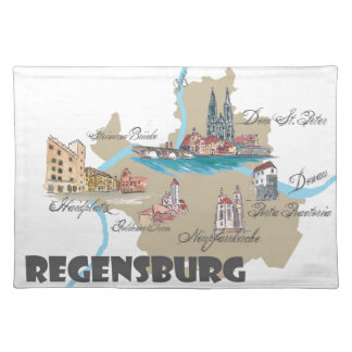 Regensburg Germany map Placemat