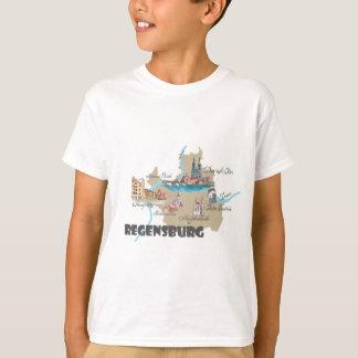 Regensburg Germany map T-Shirt