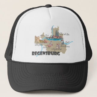Regensburg Germany map Trucker Hat