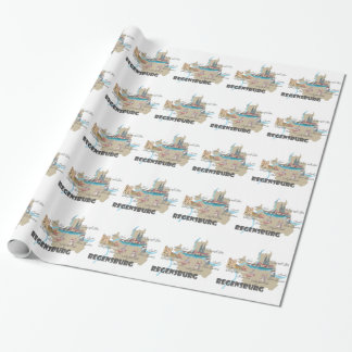 Regensburg Germany map Wrapping Paper