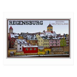 Regensburg - Winter Along the Donau Postcard