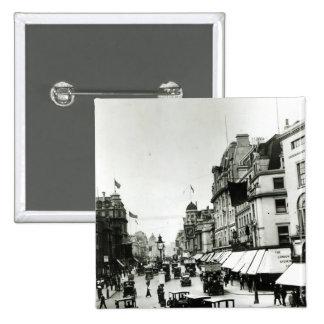 Regent Street, 1910s 2 Inch Square Button