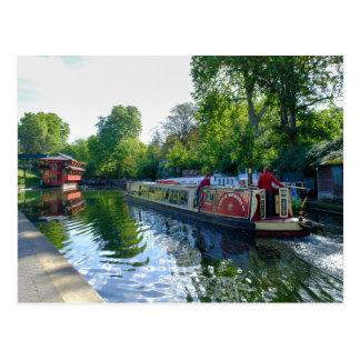Regent's Canal London UK Postcard