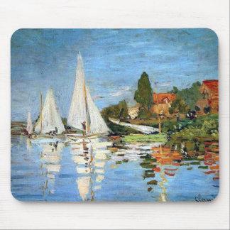 Regetta Boats Fine Art by Monet Mousepad