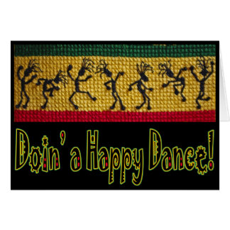 reggae dance birthday card