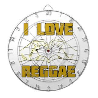 reggae design dartboard