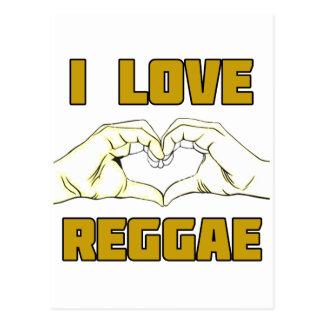 reggae design postcard