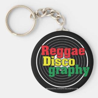 Reggae Discography Vinyl Keychain