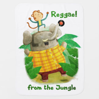 Reggae from The Jungle Baby Blanket