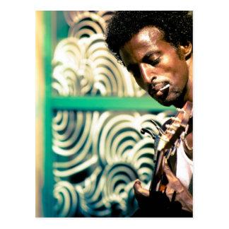 Reggae Guitar Man Postcard