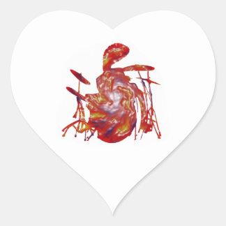 Reggae Junkanoo Heart Sticker