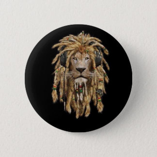 reggae lion 2 inch round button