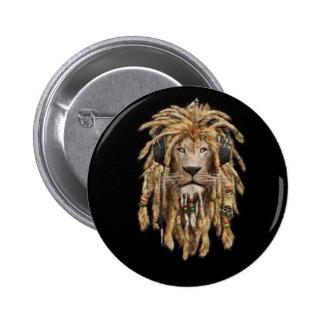 reggae lion 2 inch round button