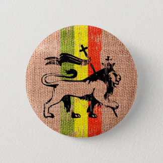 Reggae lion king 2 inch round button