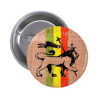 Reggae lion king pinback buttons